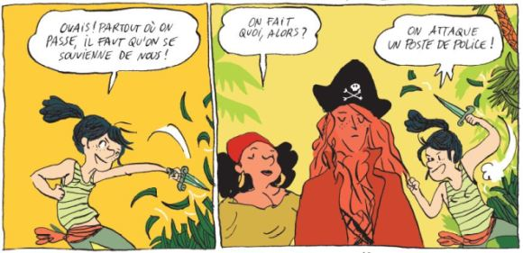 Perles et pirates Clotka Zaoui Casterman plan