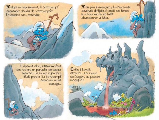 Schtroumpf le héros source du dragon
