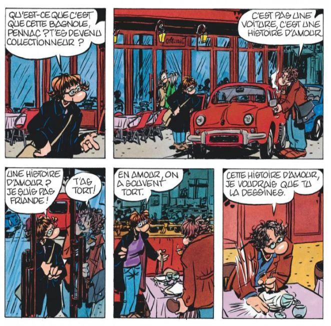 Un amour exemplaire Daniel Pennac Florence Cestac Dargaud Bagnole