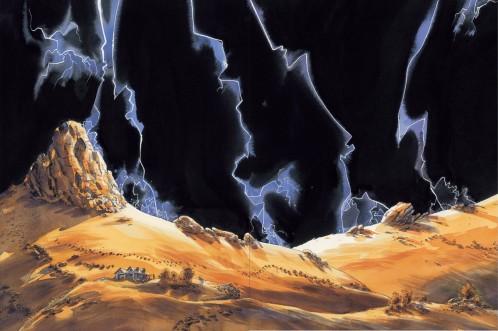 Le reste du monde Chauzy Casterman orage