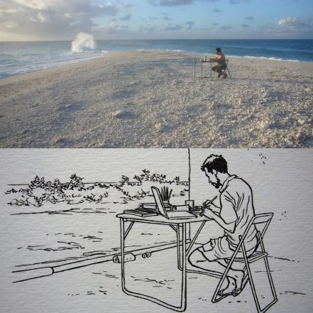 Les oubliés de l'île Tromelin dessin atelier