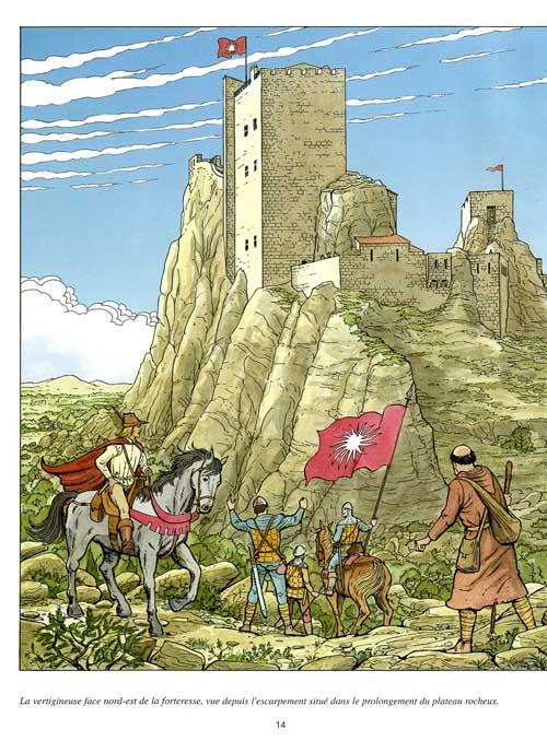 Les voyages de Jhen - Les Baux de Provence - Martin Plateau Fauviaux - Casterman - forteresse