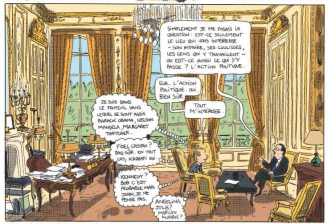 Mathieu Sapin - Le Château - Élysée - Dargaud - Bureau Président