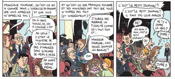 Mathieu Sapin - Le Château - Élysée - Dargaud - Le petit journal