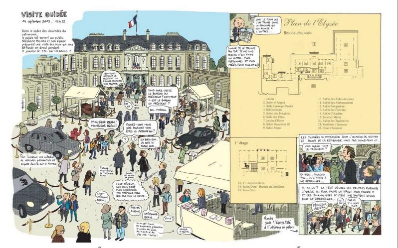 Mathieu Sapin - Le Château - Élysée - Dargaud - plan