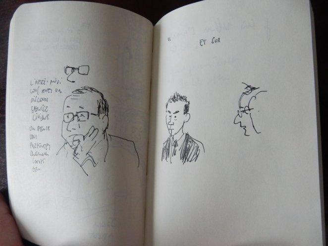 Mathieu Sapin - Le Château - Croquis et prises de notes (1)