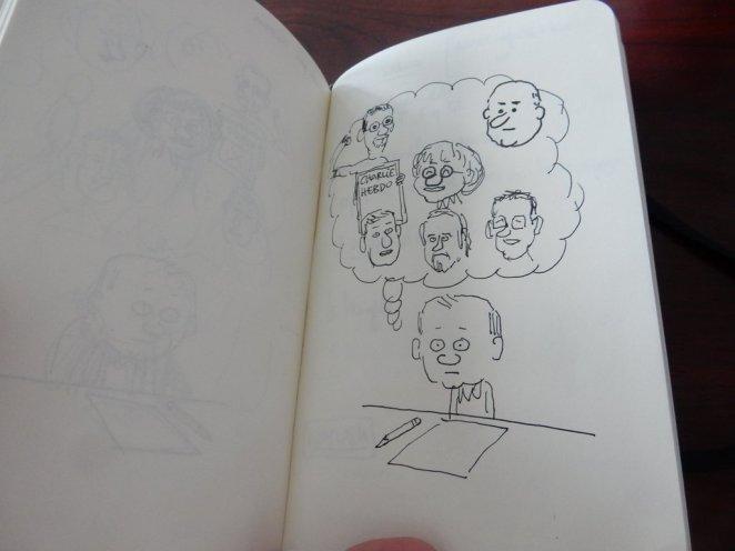Mathieu Sapin - Le Château - Croquis et prises de notes (2)