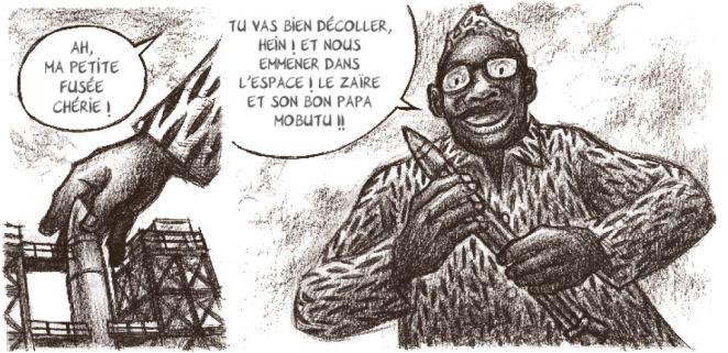 Mobutu dans l'espace - Ducoudray - Vaccaro - Futuropolis - Mobutu