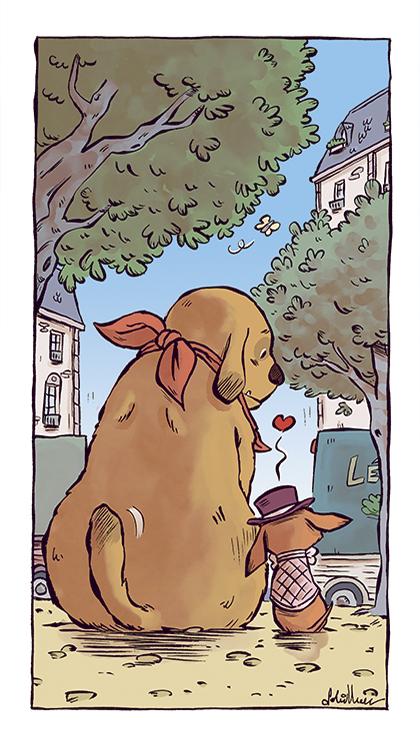 Histoire de Poireaux Soleilhac Sowa chiens