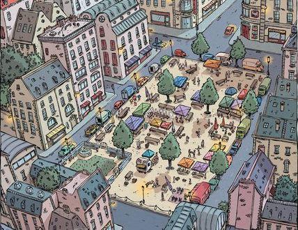 Histoire de Poireaux Soleilhac Sowa marché ville
