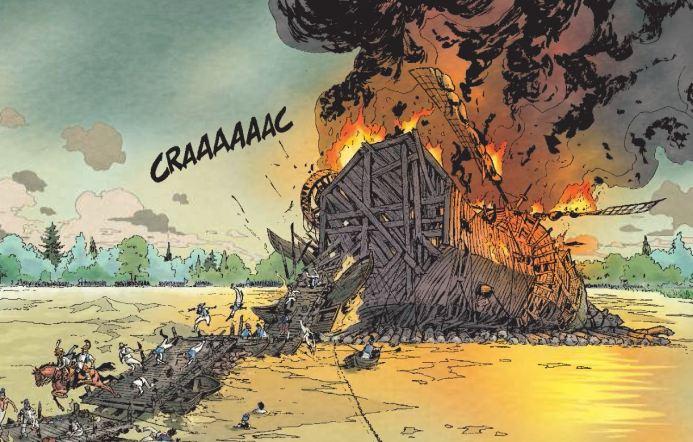 La bataille- Rambaud - Richaud - Gil - Intégrale - Destruction du pont Danube