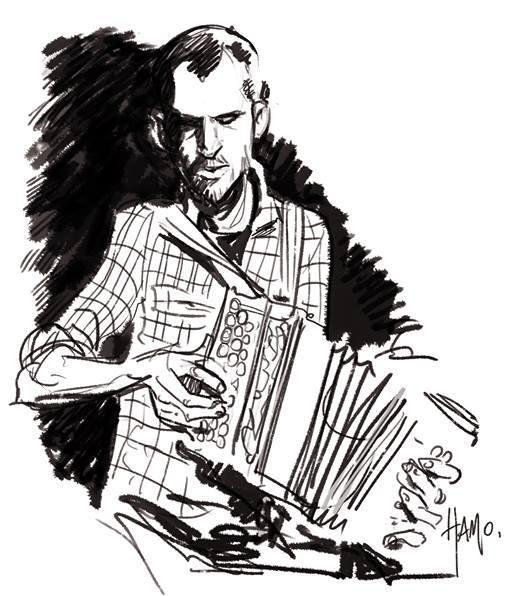 Hamo accordéon auto-portrait