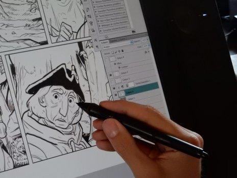 Hamo - La Malbête - dessin en cours