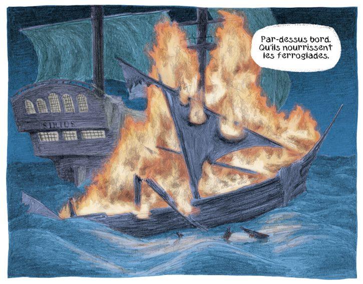 Helene V - La fille des cendres - incendie bateau