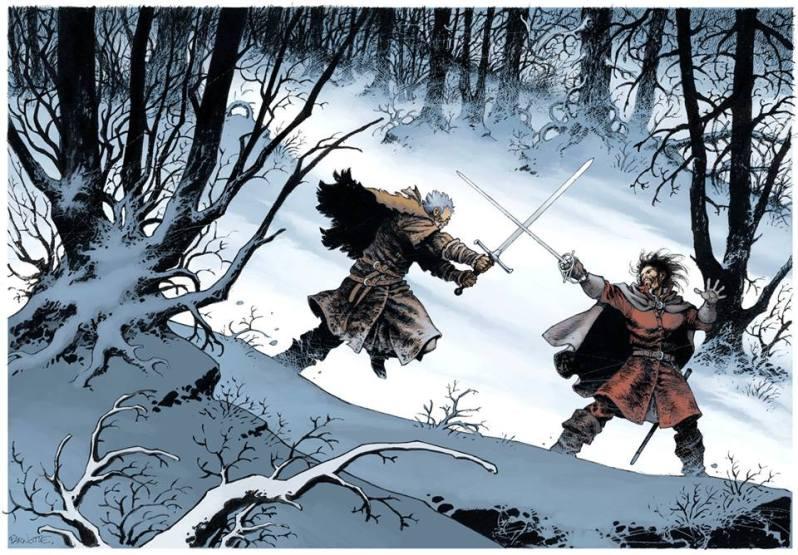 Le maître d'armes - Dorison - Parnotte - Combat neige