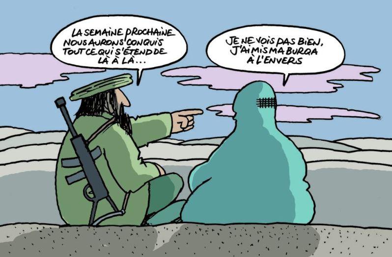 Philippe Geluck - le chat fait des petits - Burqa