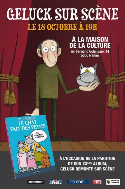 Philippe Geluck - Le Chat fait des petits - sur scène