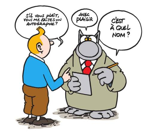 Philippe Geluck - Le Chat fait des petits - Tintin