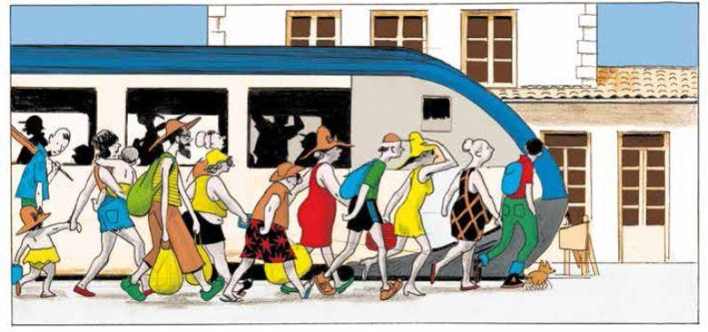 Vive la marée - Pascal Rabaté - David Prudhomme - Débarquement train