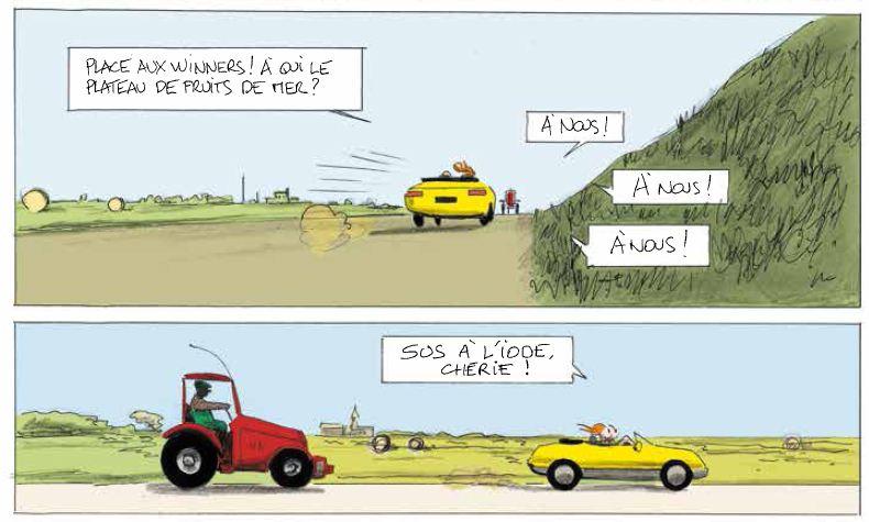 Vive la marée - Pascal Rabaté - David Prudhomme - Décapotable jaune