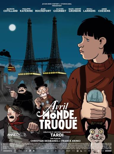 Avril et le monde Truqué - Desmares - Ekinci - Tardi - Legrand - Affiche (4)