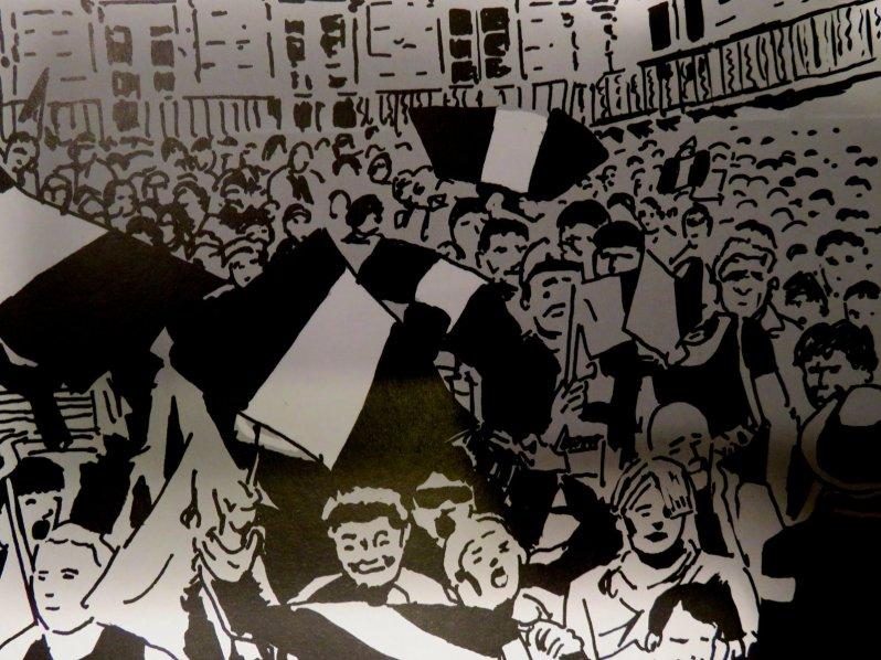 La présidente - Boudjellal - Durpaire - manifestation
