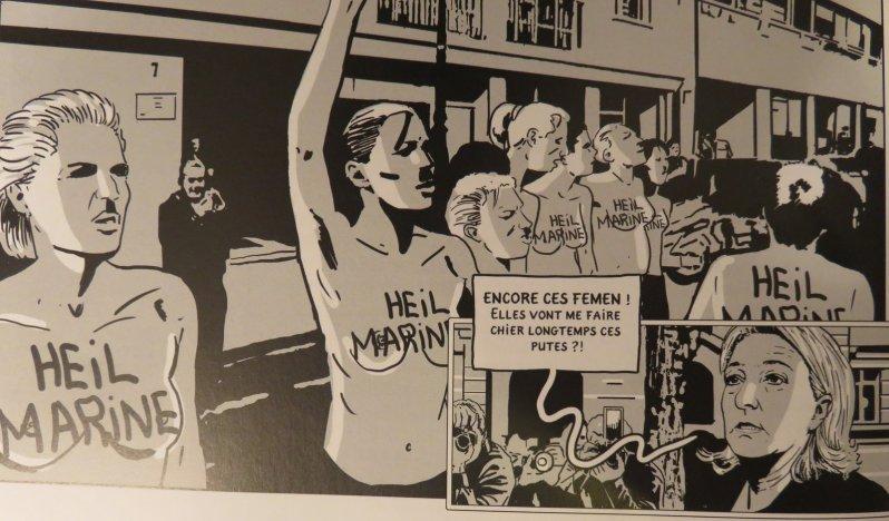 La présidente - Boudjellal - Durpaire - Marine Le Pen - Femen