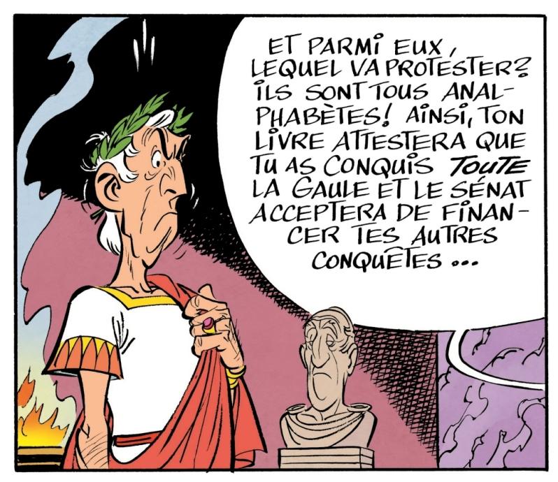 Astérix - Le papyrus de César - Ferri et Conrad - analphabètes