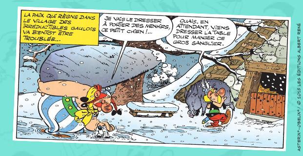 Astérix - Le papyrus de César - Ferri et Conrad - menhir