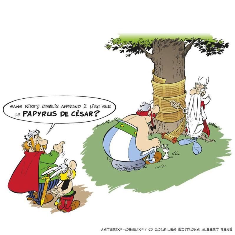 Astérix - Le papyrus de César - Ferri et Conrad - publicité