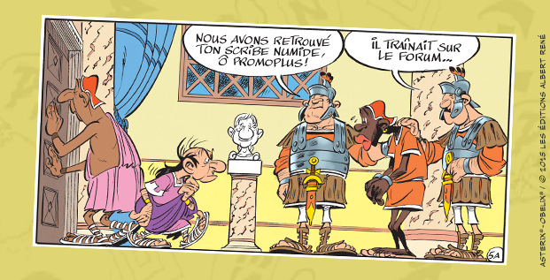 Astérix - Le papyrus de César - Ferri et Conrad - scribe numide