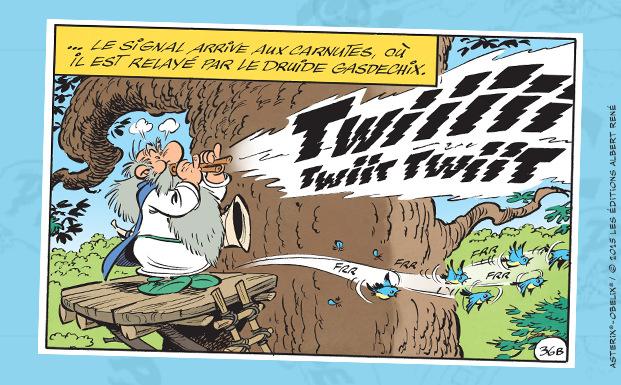 Astérix - Le papyrus de César - Ferri et Conrad - twitter