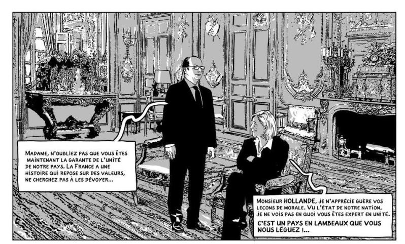 La présidente - Durpaire - Boudjellal - Discussion Hollande Le Pen