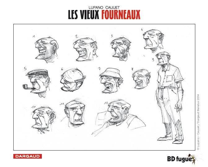 Les vieux Fourneaux - Lupano - Cauuet - Recherches personnages