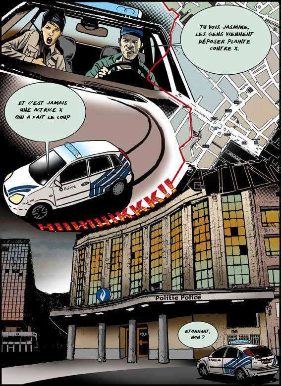 Larry Castillo - DeadMeatComix - Police Bruxelles