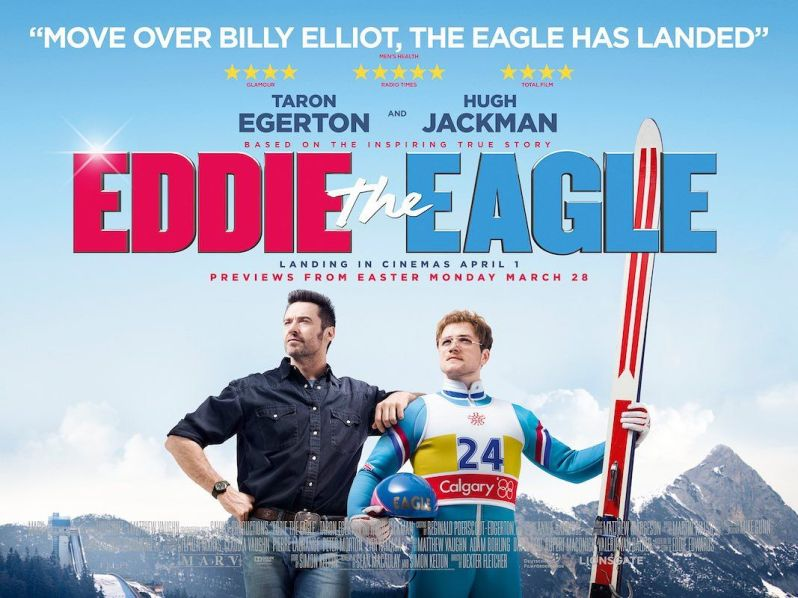 Eddie the eagle - Taron Edgerton - Eddie Edwards - COuverture