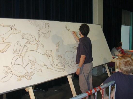 Frank Pe - Fresque - fete de la BD Andenne 2006