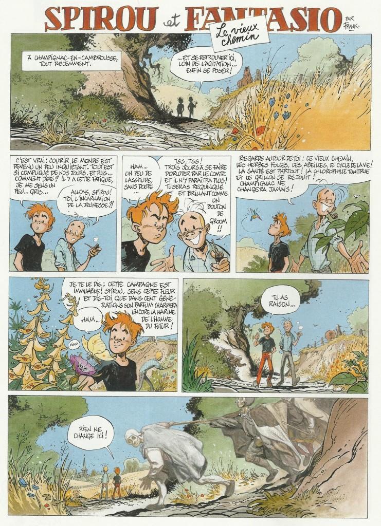 frank Pe - Spirou et Fantasio - Le vieux chemin