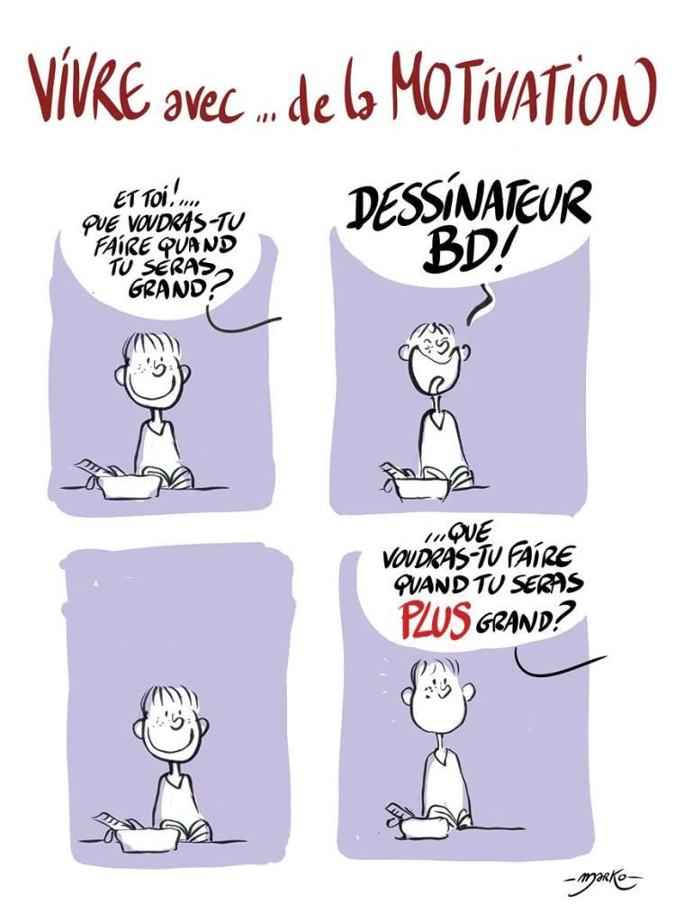 Marko - Vivre avec - dessinateur BD - Motivation