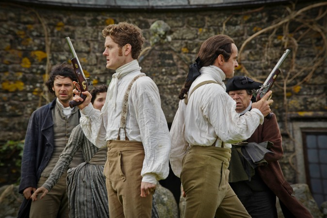 WARNING: Embargoed for publication until: 10/03/2015 - Programme Name: Poldark - TX: n/a - Episode: n/a (No. 2) - Picture Shows: Francis (KYLE SOLLER), Captain Andrew Blamey (RICHARD HARRINGTON) - (C) Mammoth Screen - Photographer: Mike Hogan