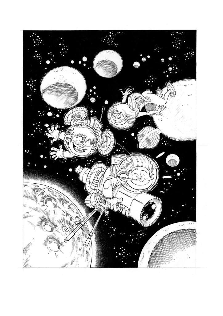 Les Astromomes - T1 - L'annee bulleuse - Derache - Ghorbani - Gao - Encrage couverture