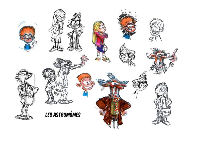 Les Astromomes - T1 - L'annee bulleuse - Derache - Ghorbani - Gao - recherches personnages