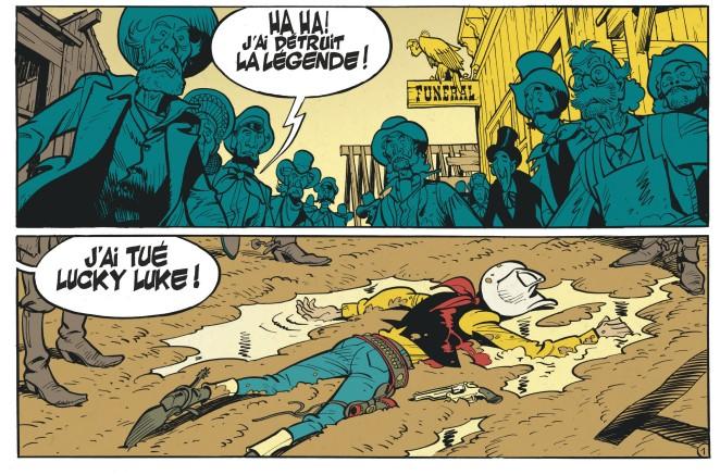 Matthieu Bonhomme - L'homme qui tua Lucky Luke - Mort