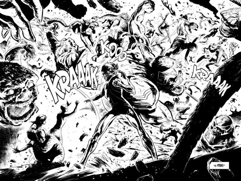 Fox-Boy - Laurent Lefeuvre - encrage monstres autre dimension