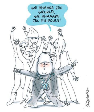 Le bonheur occidental - Charles Berberian - Fluide Glacial - Francois Hollande