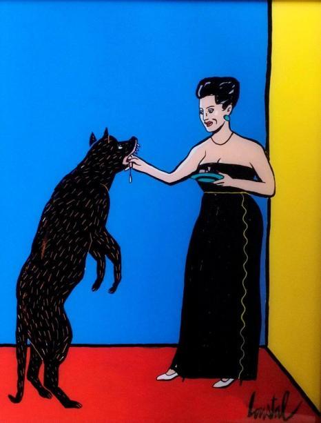 Loustal - exposition -chien noir