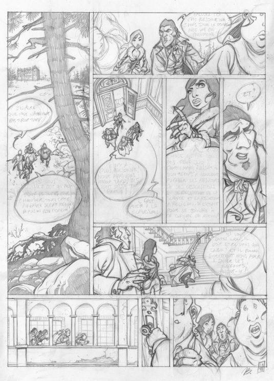 Nicolas Bara - Le concile des arbres - crayonne