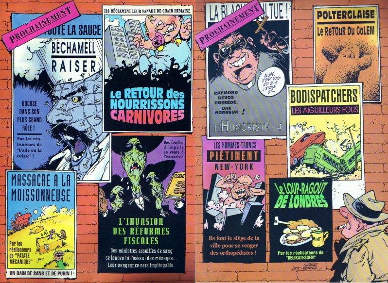 Dans le Spirou des années 90, Clarke s'amusait à parodier certaines affiches de cinéma. (c) Dupuis - Clarke