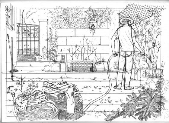 La Maison - Paco Roca - Saison - couverture crayonne