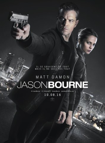 Jason Bourne - 2016 - Matt Damon - Tommy lee Jones -Vincent Cassel